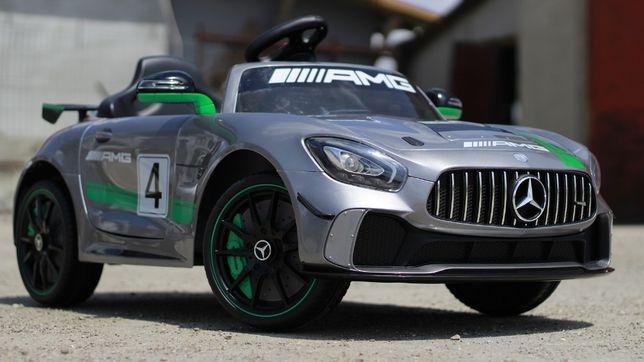 Masinuta electrica pentru copii Mercedes GT-R AMG #Silver