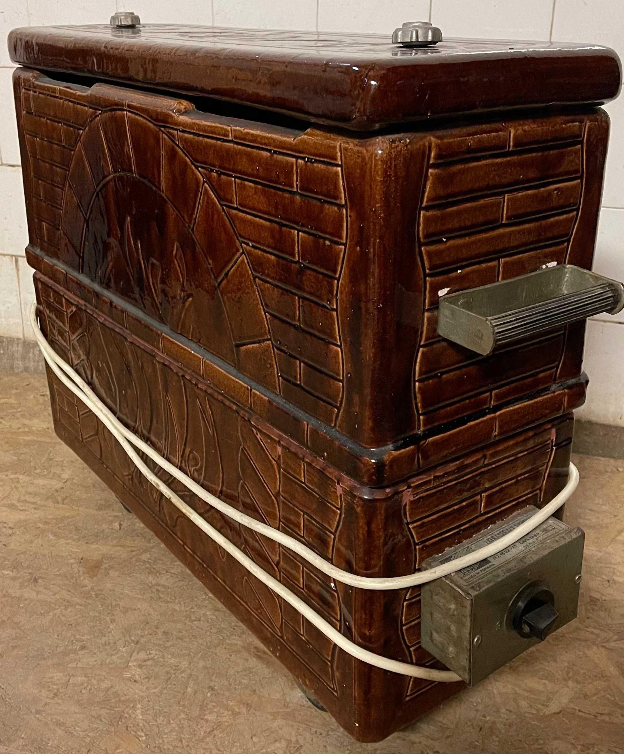 Soba electrica vintage; Soba portabila tip calorifer