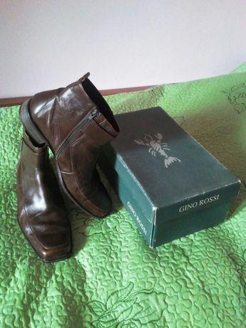 Pantofi / Ghete din piele maro Gino Rossi / nr. 44 ( 29 cm )
