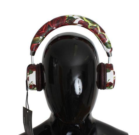 Casti Dolce & Gabbana Leather Roses Floral Wireless Headset Headphone