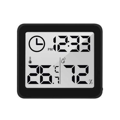 Higrometru si termometru digital de camera cu ceas