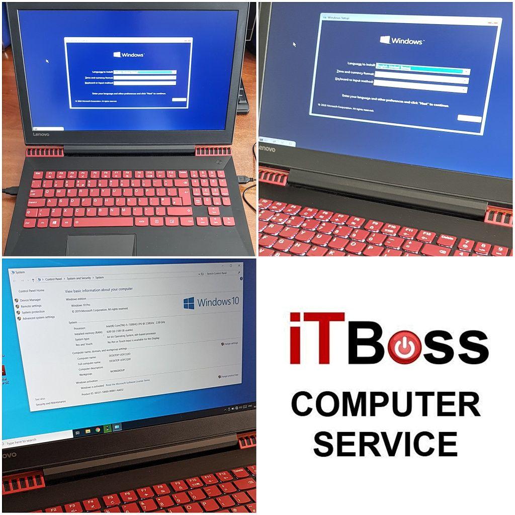 Instalare WINDOWS 10, Reparatii Calculatoare, Service Curatare Laptop