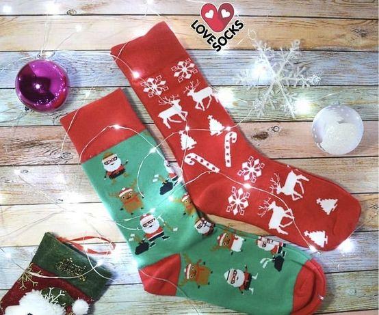 Носки новогодний принт