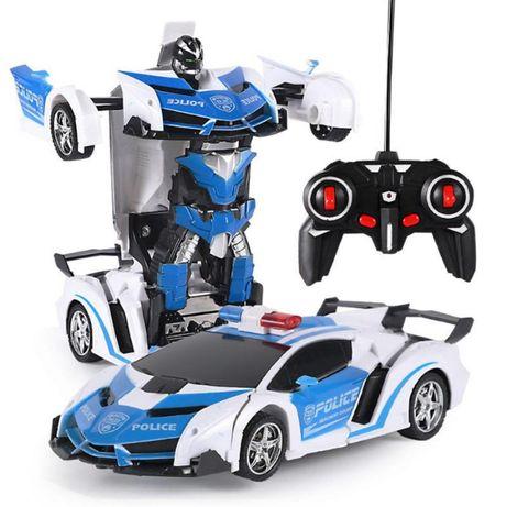 Transformers. Robot masina de politie cu telecomanda. Pret Mic. mic !