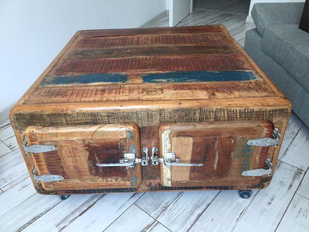 Masă și comodă vintage ,lemn lot 2 piese