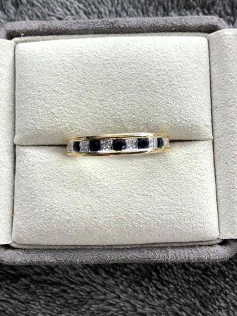 Inel din aur cu safire si diamante