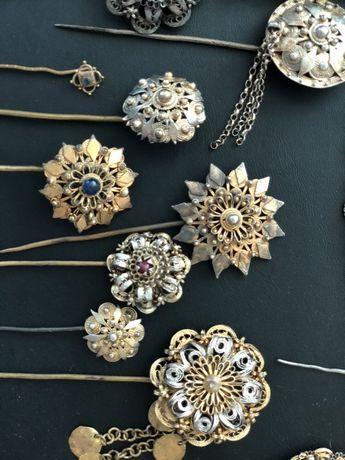 Сребърни накити с позлата-царски игли