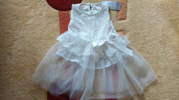6-8 месеца чисто нова детска рокличка с бродерия за дете