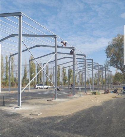 Vând hale metalice structuri demontabile lățimi cum doriți