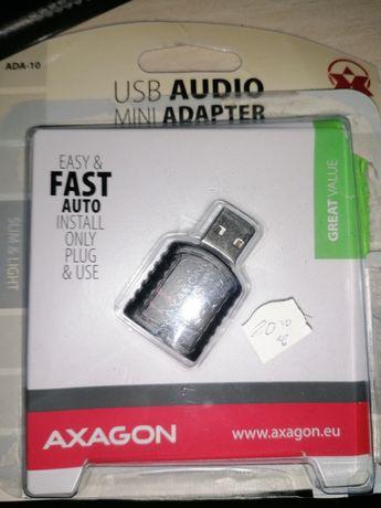 Usb audio mini adapter звуков адаптер