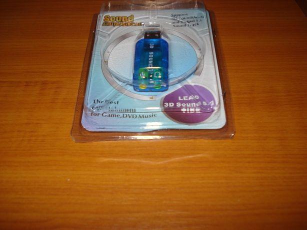 placa audio 3D detasabila USB microfon si casti