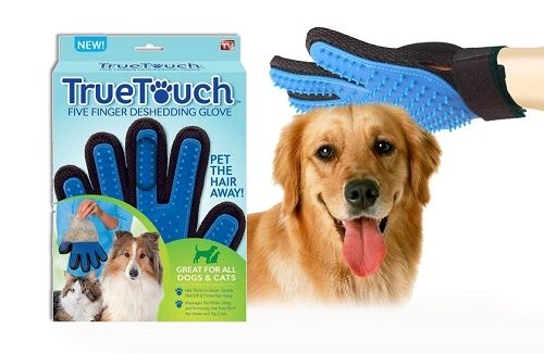 Manusa perie animale True Touch pentru caini si pisici