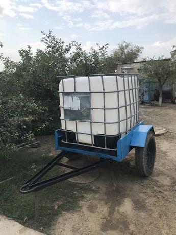 Самодельный прицеп с емкостью для воды кубовой