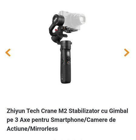 Zhiyun Tech Crane M2 Stabilizator cu Gimbal pe 3 Axe pentru Smartphone
