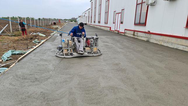 Turnari beton finisat șlefuit cu elicopter- cuart, beton elicopterizat