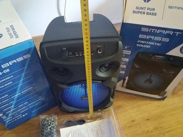 BOXA PORTABILA BLUETOOTH Boxa activa cu microfon radio usb mp3 player