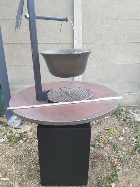Gratar fier friptura, disc, ceaun, gril, rotisor, unicat, produs lux
