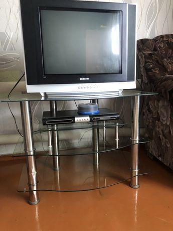 Продам телевизор и стеклянный стол