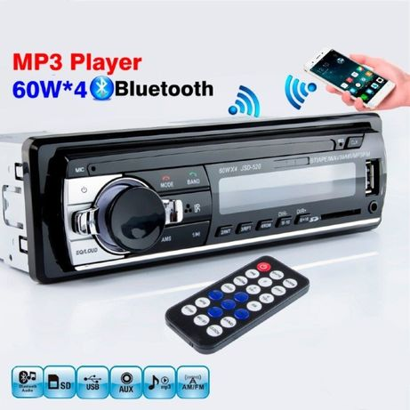 Casetofon auto, MP3 player, Bluetooth, USB, card SD, Radio, 4 x 60W