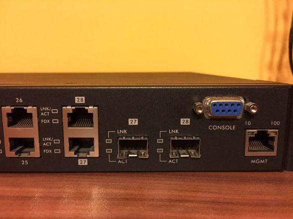Суич ZyXEL ES-3124 24-Port 10/100 Fast Eth L2+4 Gb uplink port