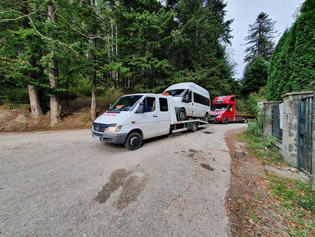 Tractari auto cu 4x4sinaia  munții bucegi și baiului moroeni non stop