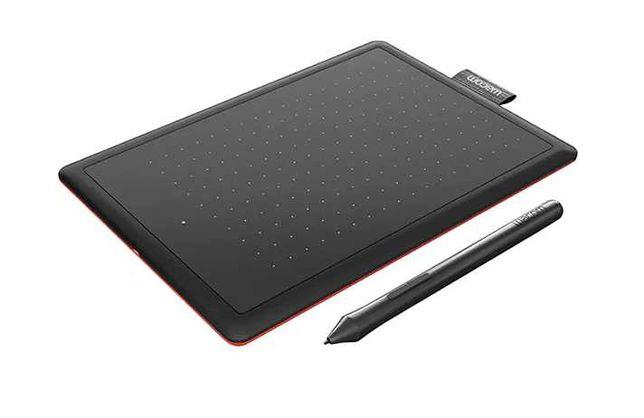 Tableta grafica WACOM One Small CTL-472-S, negru-rosu