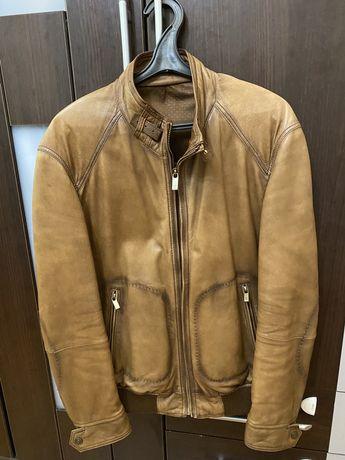 "Кожанная куртка ""Massimo Dutti"" (50 размер)"