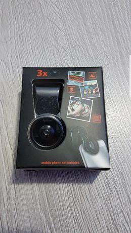 Lentile 3 in 1 Jagermeister, FishEye,Macro,WideAngle, Samsung, Iphone