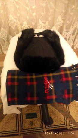 Мальчиковая зимняя шапка и шарфик 1500 т , пуховик 3000т ботинки 39р