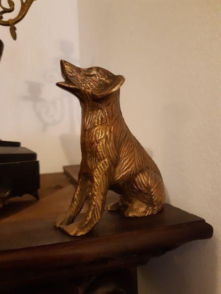 Статуетка плътен бронз Куче (авторска)