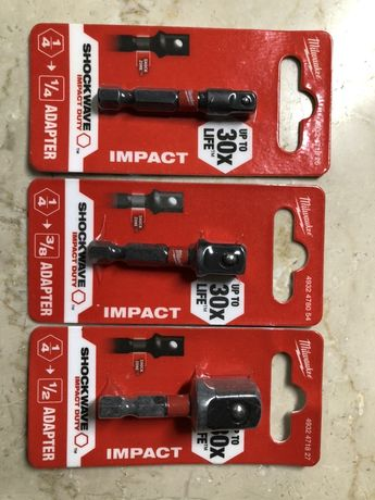 MILWAUKEE 030+031+032 adaptor IMPACT hex, NOU