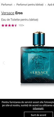 Vand parfum eros versace la jumate de pret