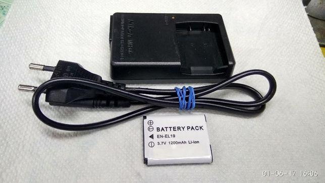 Новый аккумулятор и зарядное устройство NIKON