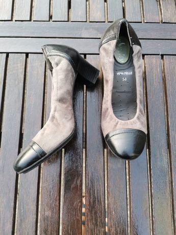 Pantofi de piele intoarsa, marimea 36