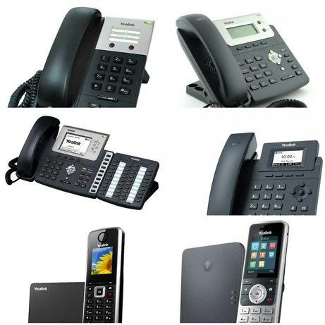SIP телефоны Yealink. 8 штук. 6 моделей: T-18,20,26,30, W-52,56,60