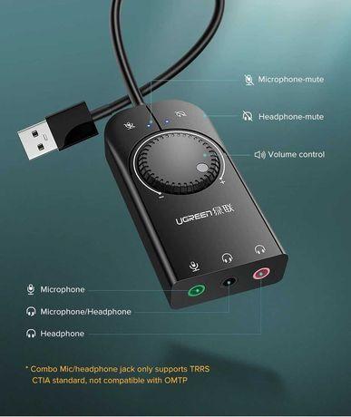 НОВ! UGreen USB external Stereo sound adapter