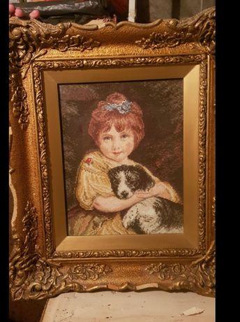 Вилеров гоблен Момиче с Куче