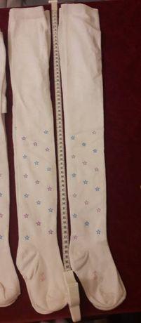 Dresuri copii, alb cu model stelute, 2-8 ani, dimensiuni in poza