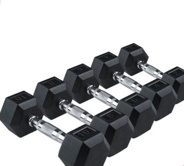 Гантели шестигранные за кг 1250 тг