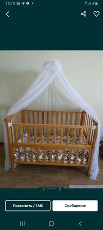 Детский кровать с качалкой