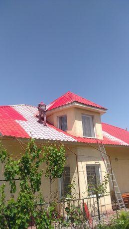 Покраска крыши карниза металла черепица ,металла конструкций ,бетонные