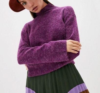 Свитер с шерстью модного датского бренда ICHI