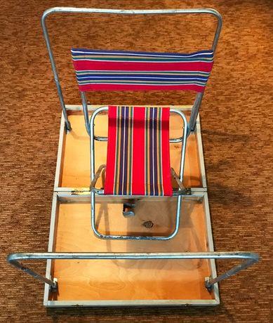 Сгъваем къмпинг сет: маса със стол за пикник (куфар)