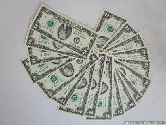САЩ - колекция банкноти 2 долара, редки, автентични - ЧЕТИ ОПИСАНИЕТО!