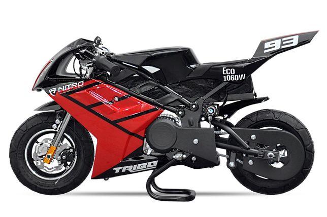 Motocicleta electrica Pocketbike NITRO ECO TRIBO 1060W 36V #RED