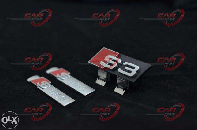 Set Embleme Audi S3 (3buc)