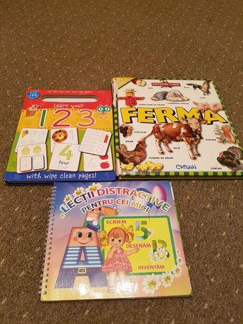 3 Carti educative cartonate copii prescolari