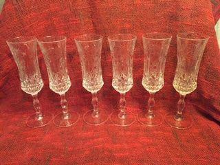 Хрустальные фужеры для игристых вин, шампанского, 6 штук.