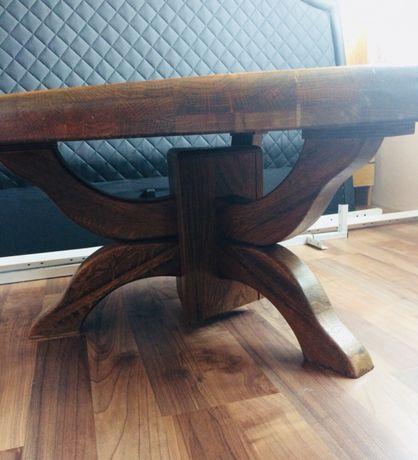 Уникална дървена холна маса