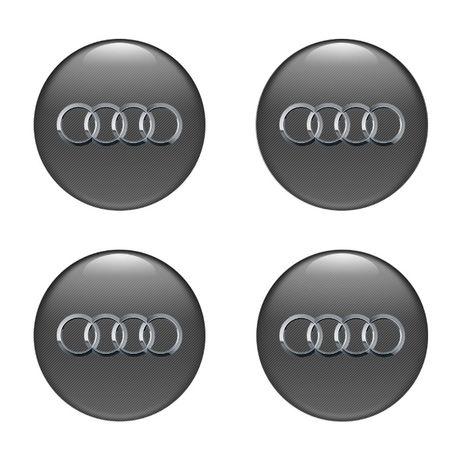 Силиконови стикери за капачки на джанти АУДИ/Audi размери 40мм до 90